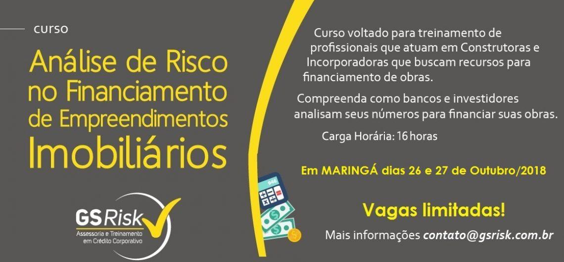 Folder com informações sobre o treinamento que a GSRISK realizará em Maringá